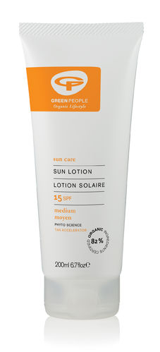 Green People Sun Lotion SPF15 Aurinkovoide 200 ml