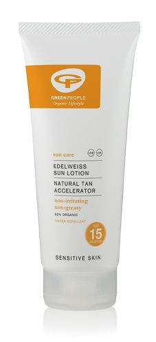 Green People Sun Lotion SPF15 Natural Tan Accelerator 200 ml