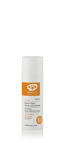 Green People Scent Free Facial Sun Cream SPF30 Aurinkovoide kasvoille 50 ml