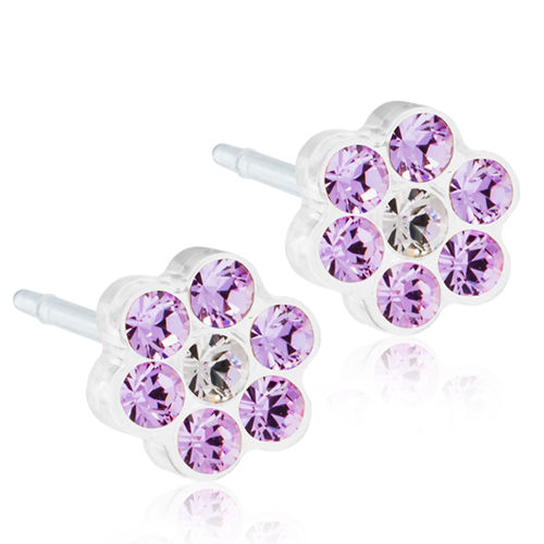 Blomdahl Daisy Violet/Crystal korvakorut Medical Plastic 5 mm