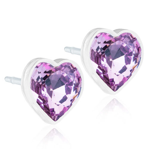 Blomdahl Heart Light Amethyst korvakorut Medical Plastic 6 mm
