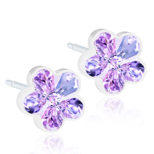 Blomdahl Flower Violet korvakorut Medical Plastic 6 mm