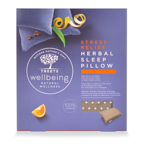 Treets Wellbeing Herbal Sleep Pillow Stress Relief tyyny
