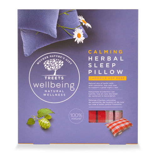 Treets Wellbeing Herbal Sleep Pillow Calming tyyny