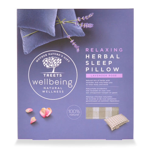Treets Wellbeing Herbal Sleep Pillow Relaxing tyyny