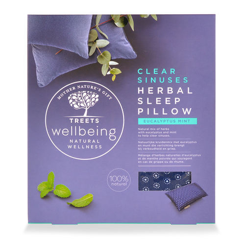 Treets Wellbeing Herbal Sleep Pillow Clear Sinuses tyyny