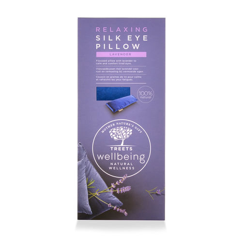 Treets Wellbeing Relaxing Eye Pillow 100 % Silk Flaxseed Lavender